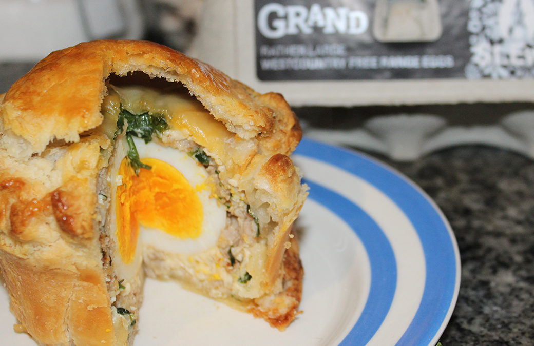 Egg, Pork and Wild Garlic Pies