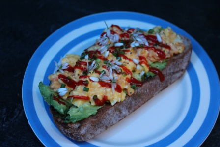 Egg Mayo and Avocado Open Sandwich