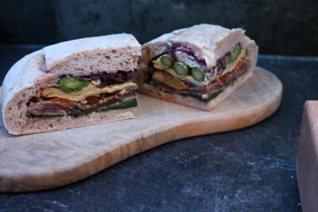 Stuffed Deli Picnic Sandwich