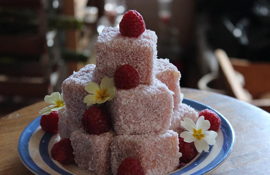 Raspberry and Lemon Lamingtons