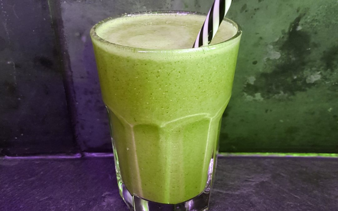 Green Protein Rich Smoothie with Liquid Egg White