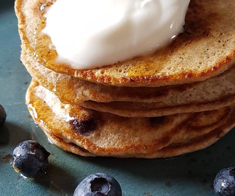 Blueberry Yoghurt & Spelt Pancakes