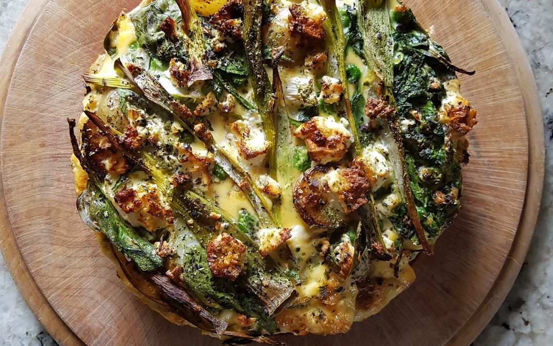 Green Frittata with Feta & Seaweed