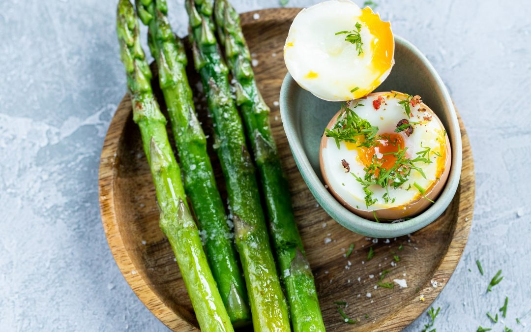 Grilled Asparagus & Dippy Eggs, Perfectly.