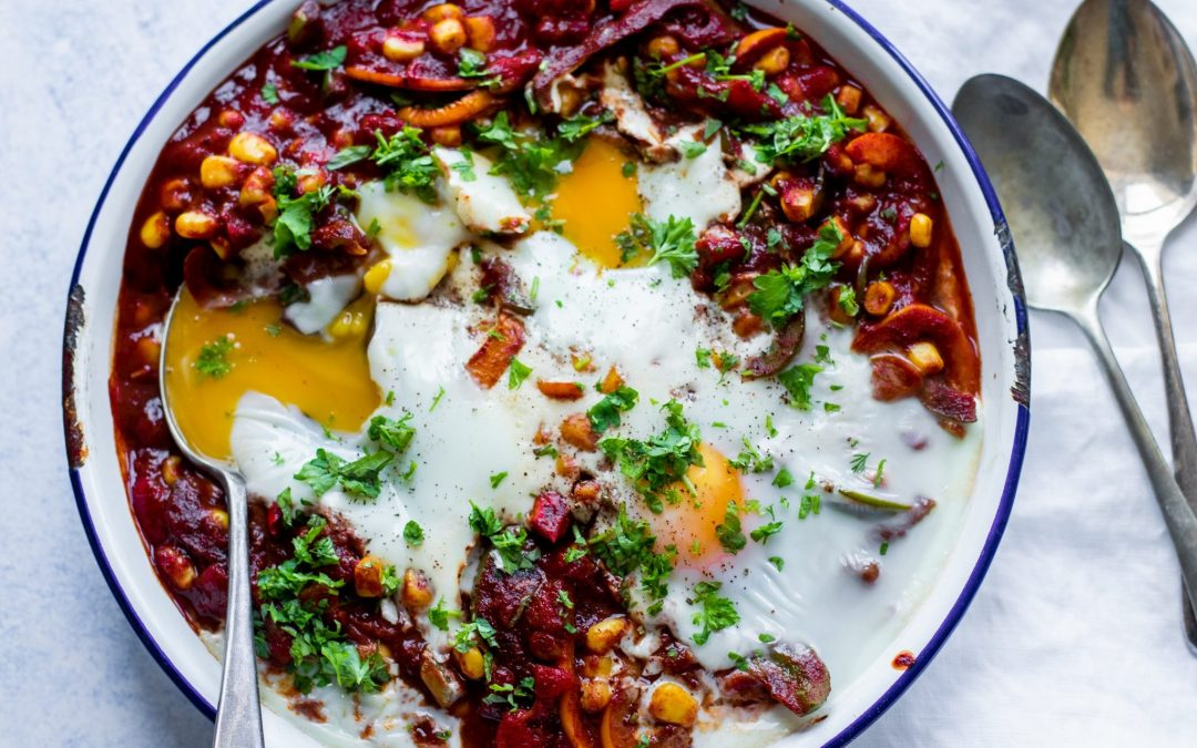 James Stawbridges's Smokey Baked Eggs