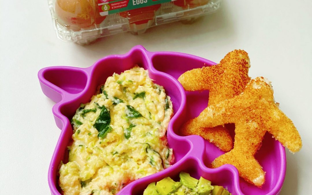 My Little Food Critic's Veggie Loaded Super Eggs® with Aeroplane Toast!